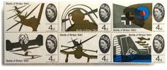 Commemorative Battle-of-Britain stamps designed by British artist/designer David Gentleman. David Gentleman, Glasgow School Of Art, South Vietnam, Battle Of Britain, American Rappers, 25th Anniversary, Elizabeth Ii, Great Britain, African
