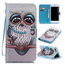 Wallet Style Flip Cover For Iphone 5S SE 6 6S 7 Plus Painting Leather Mobile Phone Bags & Cases For Samsung Galaxy S5 S6 S7 Edge(China)