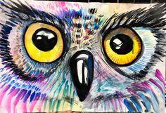 smART Class: Owl watercolor