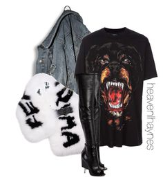 """""""Untitled #197"""" by heavenlhaynes ❤ liked on Polyvore featuring Fendi, Givenchy and Dean Harris"""