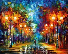 Leonid Afremov's Beautiful Paintings of Rainy Evenings