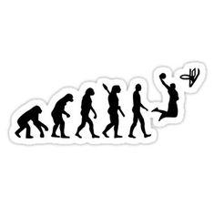 'Evolution Basketball ' Sticker by Designzz Phone Stickers, Cool Stickers, Printable Stickers, Basketball Motivation, Basketball Art, Basketball Bedroom, Chuckie Rugrats, Basketball Background, Nba Wallpapers