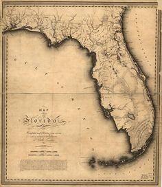 FLORIDA, where I live now ,Pennsylvania area where I belong. too hot HUMID here and my babies are in P. Map of Florida, but alas florida I am to stay. Old Florida, Florida Keys, Florida State Map, Vintage Florida, Florida Style, Florida Girl, Florida Vacation, Anna Maria Island, Vintage Maps