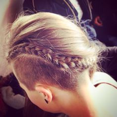 Undercut plait that was done for me yesterday.