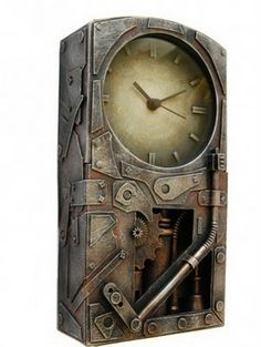 These non-metal steampunk clocks are actually made from cardboard, plaster of Paris and paint. They have been skillfully and intelligently crafted to give a steampunk look. These awesome piece of clocks are fully functional and deliver the right time.