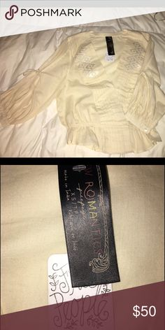 Free People Top Free People Peasant style top brand new with tags. Free People Tops