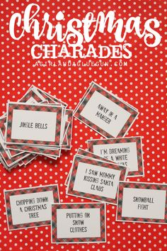 christmas charades fun game for family