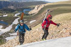 Montana by Dirt: Summer Skiing in the Beartooth Mountains