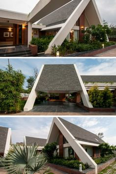 Sloping Roof House | Design Buro Architects #Roof #design #structure #sloping #contemporary #modern #architecture #interior design