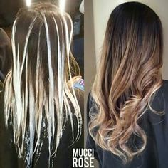 How to balayage Hair Color Techniques, Hair Color And Cut, Hair Highlights, Gorgeous Hair, Hair Looks, Hair Trends, Dyed Hair, Hair Inspiration, Cool Hairstyles