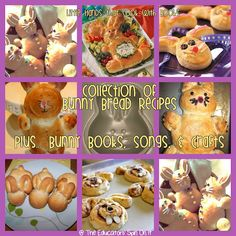 Bunny Bread... a collection of recipes to create your own Bunny Bread with your little ones.  Little Hands that Cook with Book Lesson includes Books, Songs, & Crafts about Bunnies.