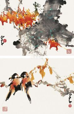 Chao Shao-an 趙少昂作品 saved by oldsum Sumi E Painting, Japan Painting, Chinese Painting, Japanese Drawings, China Art, Watercolor And Ink, Art Photography, Chinese Brush, Taiwan