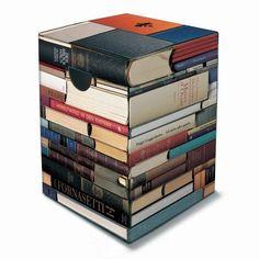 Pile of books cardboard stool - Boing Boing