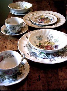 vintage bohemian botanical dinnerware on Etsy