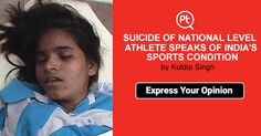 ‪#‎SUICIDE‬ OF ‪#‎NATIONAL‬ LEVEL ATHLETE SPEAKS OF ‪#‎INDIA‬'S ‪#‎SPORTS‬ CONDITION? Indian Olympic Team Posticker ‪#‎ExpressYourOpinion‬