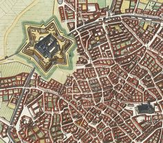 Old Map City Plan of Milan Milano, Italia 1700 Vintage Map Italy Beautifully engraved and richly decorated plan of Milan. With a key (1-256) in