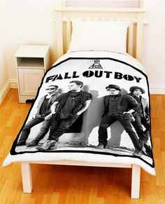 """Fall Out Boy rock band Personalized Collection Gift Fleece Throw  Blanket Large Size L 50"""" x 60"""" D02 on Etsy, $33.50"""