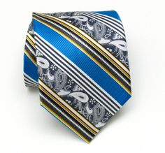 Time to look great with this!   Blue Paisley Striped Tie http://www.fashion4men.com.au/shop/tiesncuff/blue-paisley-striped-tie/ #Blue, #CarloViscontiCollection, #Fashion, #Men, #Menfashion, #Mensaccessories, #Mensgoods, #Mensstyle, #MenswearTies, #Paisley, #Striped, #Tie, #Tiesncuff