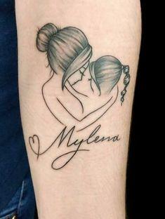 Meaningful little tattoos for women Simple little tattoo ideas , Mommy Tattoos, Tattoo Mama, Mom Daughter Tattoos, Tattoos For Kids, Family Tattoos, Tattoos For Daughters, Sister Tattoos, Little Tattoos, Mini Tattoos