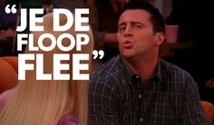 #Friends #Joey speaks french episode so funny. Find unique friends themed merchandise like this funny quote. at www.narffangear.com
