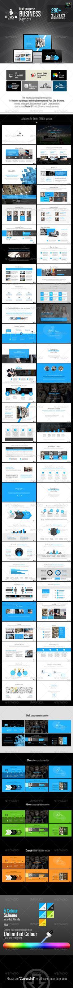 Bravo Multipurpose Business Keynote | Keynote theme / template