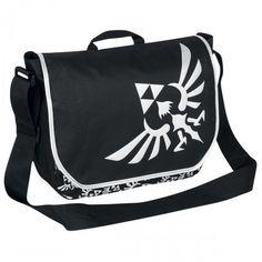 The Legend Of Zelda - Triforce - Messenger bag - black-silver - Size: Standard The Legend Of Zelda, Boy Fashion, Fashion Bags, Zelda Logo, Unisex, Mode Geek, Mode Alternative, Nintendo, Geek Chic