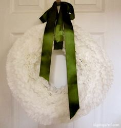 How to make a Coffee Filter Wreath - step by step photo instructions.