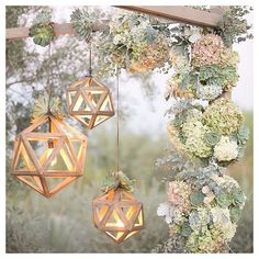 who would have thought that succulents and geometrics would look so damn good! #boamagazine #bridesofadelaide #engaged #wedding #love #flowers #lanterns