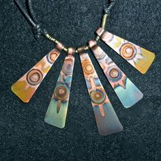 This colorful copper piece is created by heating the metal...can you believe the beautiful color???!!!