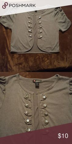 Final Price drop!! Cute cardigan. Grey cardigan has buttons and gathered sleeves. delirious  Sweaters Cardigans