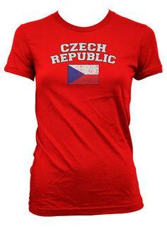 Czech Republic Soccer Country Flag Footbal Girl T Shirt | eBay