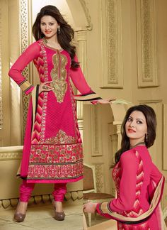 #Classy #Pink #Georgette #Designer #Wedding #Churidar #Suits #BollywoodChuridarSuit #UrvashiRautelaSuit #ChuridarSuit #UrvashiChuridarSuit #ReasonablePrice