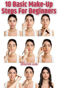 Learn the basic make-up steps for beginners and buy basic makeup products for beginners. These basic makeup steps for applying makeup will show you the proper make up steps in order #makeup #beginners #beautytips #natural #cosmetics #veganmakeup #halalmakeup #crueltyfreemakeup Steps For Applying Makeup, Makeup Steps, How To Apply Makeup, Beauty Secrets, Beauty Tips, Beauty Hacks, Makeup Products, Beauty Products, Business Women
