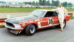 Parnelli Jones - Ford Mustang Boss 302 - Bud Moore Engineering - SCCA Trans American Championship Mid-Ohio - 1969 Trans-Am, round 3 Ford Mustang Shelby Cobra, 1970 Ford Mustang, Mustang Boss, Mustang Fastback, Ford Gt, Ford Mustangs, Peugeot, Classic Race Cars, Classic Mustang