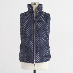 Factory printed quilted puffer vest