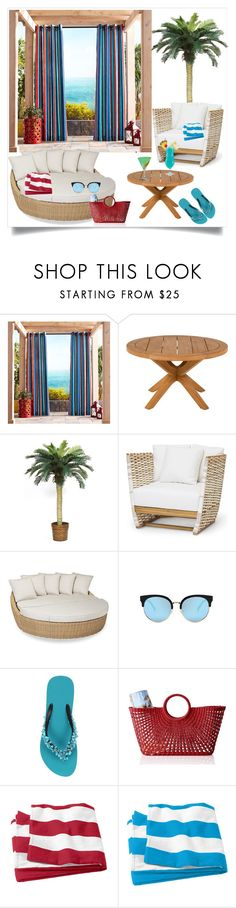 """BEACH VIEW STYLE"" by qstyled ❤ liked on Polyvore featuring Pier 1 Imports, Design Within Reach, Nearly Natural, Sunset West, TIKI, Uzurii and Mark & Graham"