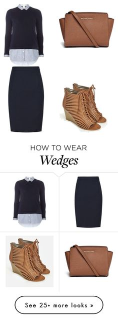 """""""Dressing up❤️❤️"""" by riahnicole-1 on Polyvore featuring Dorothy Perkins, JustFab and Michael Kors"""