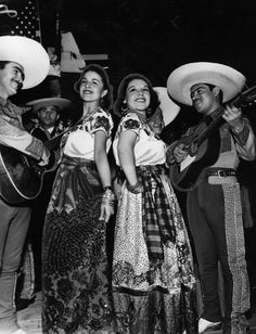 Songs and costumes of their native land of Mexico brought gaiety to the 1943 Cinco de Mayo fete. Among the many dancers were Rudolfo Rubalcava, Raquel Vasquez, Carlota Bernal and Osmany Blancarte. (Los Angeles Public Library Photo Collection)