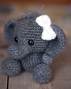 PATTERN: Crochet elephant toy amigurumi by TheresasCrochetShop