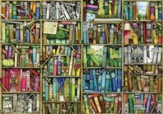 Bookshelf 250 Piece Wooden Jigsaw Puzzle