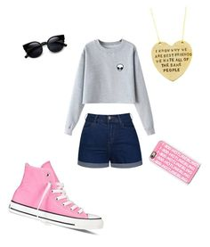 """""""almost summer☀️"""" by hearthsrock on Polyvore featuring Ally Fashion, Casetify, Converse, Alisa Michelle, Chicnova Fashion, women's clothing, women, female, woman and misses"""
