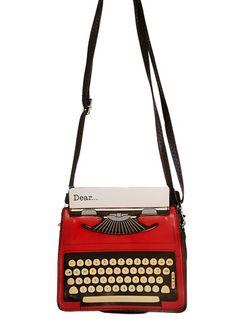 Vintage Typewriter Small Satchel Bag at PLASTICLAND