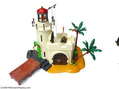"""This fortress is pretty sweet. I've always liked the """"land"""" playsets that playmobil have provided for their Pirate theme. I have the French prison, I've lusted after the Paradise Island, but this y..."""