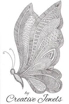 drawing zentangle beginners butterfly easy pencil tutorial drawings sketches mandala sketch flowers simple doodle mandalas doodles tutorials draw patterns beginner