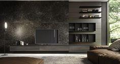 Living Room Tv Unit, Living Room Modern, Interior Design Living Room, Living Room Wall Designs, Home Room Design, Shelving Design, Tv Wall Design, Contemporary Baths, Cuisines Design