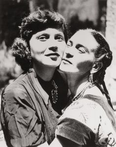 Frida Kahlo und Olga Campos, 1949 (© Prestel Verlag)  watch this video and sign my petition, thank you,  https://www.youtube.com/watch?v=XClI8FGMVa4