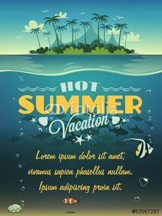 Wektor: Summer vacation background