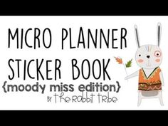 Micro Planner Sticker Book - Moody Miss Edition