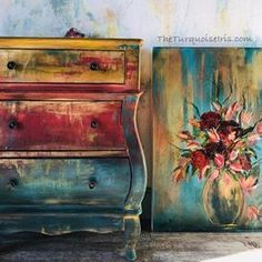 23 Clever DIY Christmas Decoration Ideas By Crafty Panda Funky Painted Furniture, Bohemian Furniture, Chalk Paint Furniture, Distressed Furniture, Refurbished Furniture, Upcycled Furniture, Furniture Projects, Rustic Furniture, Furniture Makeover