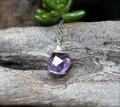 Faceted Ametrine Necklace // Purple Gemstone by GypsyGemsHawaii